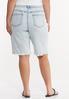 Plus Size Frayed Denim Bermuda Shorts alternate view
