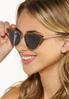 Leopard Trim Cat Eye Sunglasses alt view
