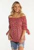 Flame Floral Convertible Top alt view