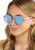 Mirrored Round Sunglasses alt view