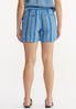 Blue Stripe Linen Shorts alternate view