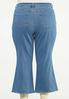 Plus Size Cropped Flare Jeans alternate view