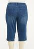 Plus Size Cropped Frayed Jeans alternate view