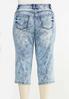 Plus Size Cropped Acid Wash Jeans alternate view