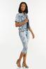 Plus Size Cropped Acid Wash Jeans alt view