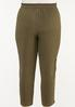 Plus Size Olive Track Pants alternate view