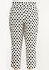 Plus Size Polka Dot Linen Ankle Pants alternate view