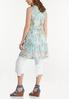 Plus Size Floral Mesh Tie Vest alternate view