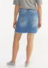 Plus Size Patchwork Denim Skirt alternate view