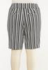 Plus Size Striped Bermuda Shorts alternate view