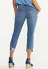 Cropped Distressed Skinny Jeans alternate view