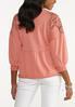 Plus Size Lace Trim Babydoll Sweatshirt alternate view