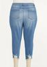Plus Size Cropped Distressed Skinny Jeans alternate view