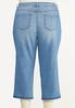Plus Size Cropped Release Hem Jeans alternate view