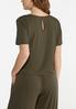 Plus Size Olive Green Top alternate view