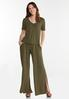 Plus Size Olive Green Top alt view