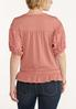 Plus Size Eyelet Sleeve Top alternate view