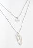 Layered Feather Compass Necklace alt view