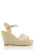 Wide Width Natural Woven Wedges alternate view