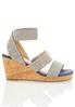 Wide Width Stretch Band Cork Wedges alternate view