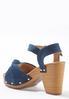 Denim Knotted Platform Sandals alternate view
