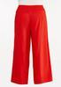 Plus Size Red Linen Pants alternate view