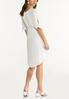 Plus Size Belted White Dress alternate view