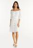 Plus Size Belted White Dress alt view