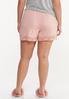 Plus Size Lace Trim Sleep Shorts alternate view