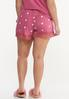 Plus Size Dotted Lace Sleep Shorts alternate view