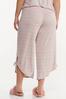 Plus Size Cropped Stripe Lounge Pants alternate view