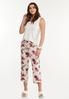 Cropped Floral Sleep Pants alt view