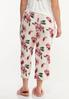 Plus Size Cropped Floral Sleep Pants alternate view