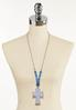 Blue Stone Cross Cord Necklace alternate view