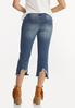 Cropped Distressed Flare Jeans alternate view