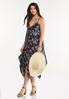 Plus Size Floral Hanky Midi Dress alt view