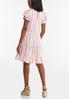 Peach Striped Linen Dress alternate view