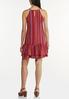 Plus Size Striped Linen Ruffled Dress alternate view