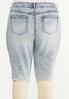 Plus Size Distressed Acid Wash Shorts alternate view