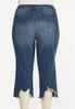 Plus Size Cropped Distressed Flare Jeans alternate view