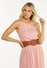 Plus Size Woven Buckle Stretch Belt alternate view