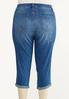 Plus Size Cropped Paint Splatter Jeans alternate view