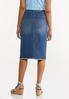 Frayed Denim Pencil Skirt alternate view