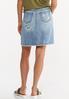 Plus Size Rip And Repair Denim Skirt alternate view