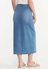 Plus Size Button Denim Maxi Skirt alternate view