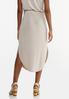 Plus Size Silky Seamed Skirt alternate view
