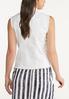 Plus Size White Frayed Denim Vest alternate view