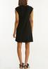Plus Size Black Ruffled Dress alternate view