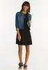 Plus Size Black Ruffled Dress alt view