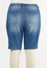 Plus Size Stretch Denim Shorts alternate view
